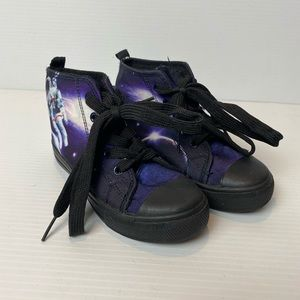 H&T space themed sneakers size 9 lace up high tops